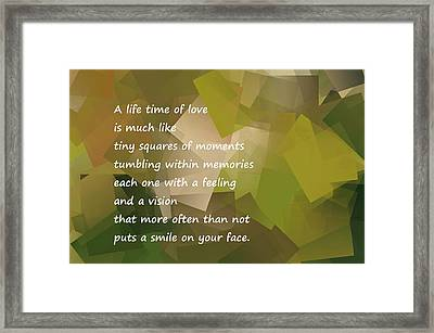 A Life Time Of Love Framed Print by Jeff Swan