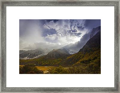 A Light Caress Framed Print by Aaron S Bedell