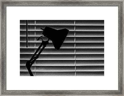 A Light In The Dark Still Life Framed Print by Tom Mc Nemar