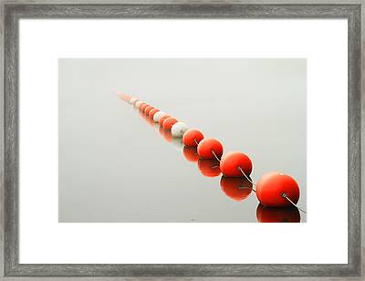 A Line To The Unknown Framed Print by Karol Livote