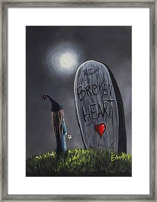 A Little Bit Broken Original Painting Framed Print by Shawna Erback