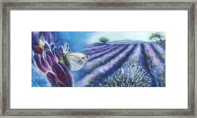 A Little Bid Purple Lizard Design  Framed Print by Andrea Pischel