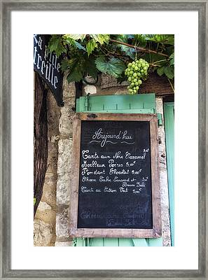 A Little Cafe Somewhere In France Framed Print by Georgia Fowler