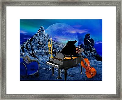 A Little Night Music Framed Print by Manfred Lutzius