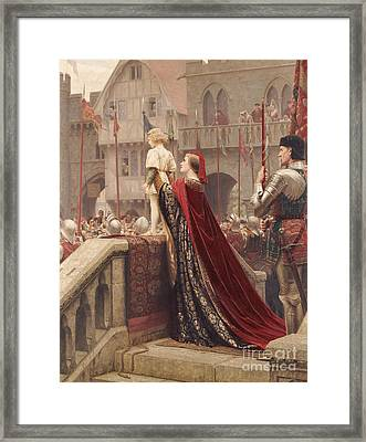 A Little Prince Likely In Time To Bless A Royal Throne Framed Print by Edmund Blair Leighton