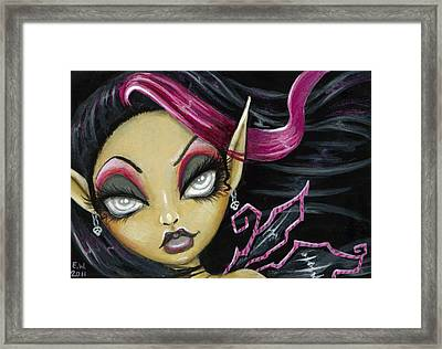 A Little Wicked Framed Print by Elaina  Wagner