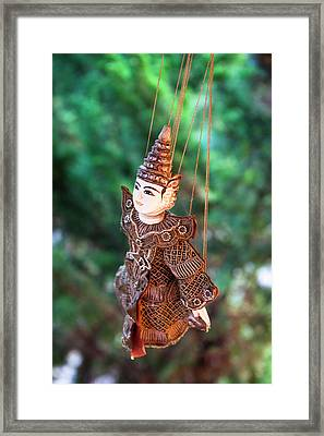 A Local Thai Puppet Framed Print by Micah Wright