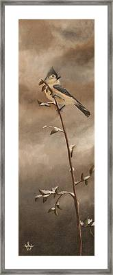 A Lonely Lady Tuft Framed Print by Ambre Wallitsch