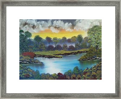 A Lovely Day In The Shenandoah Framed Print by Lee Bowman