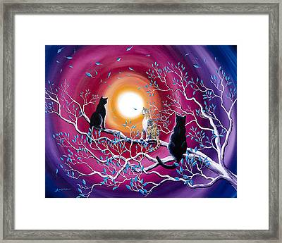 A Magical Autumn Night Framed Print by Laura Iverson