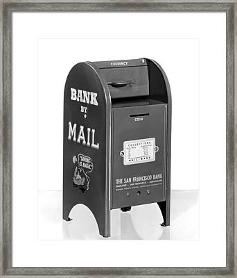 A Mail Box Bank Framed Print by Underwood Archives