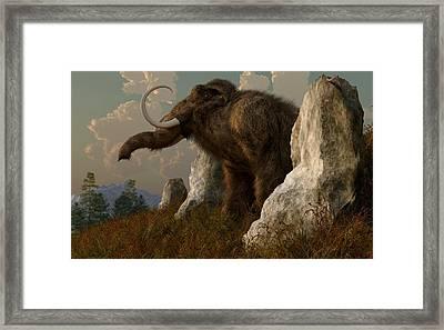 A Mammoth On Monument Hill Framed Print by Daniel Eskridge