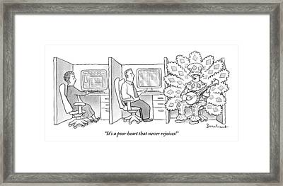 A Man In A Huge Framed Print by David Borchart