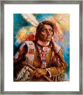 A Man Of Peace Framed Print by Ellen Dreibelbis