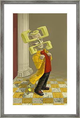 A Man Of Style Framed Print by Augustinas Raginskis