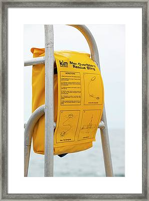 A Man Overboard Rescue Sling Framed Print by Ashley Cooper