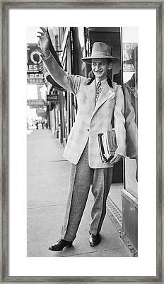A Man Wearing A Zoot-suit Framed Print by Underwood Archives