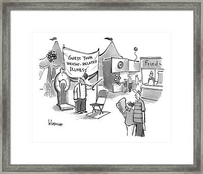 A Man With A Top-hat And Cane Stands By A Big Framed Print by John  Klossner