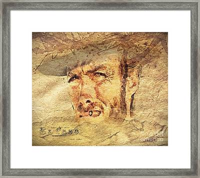 A Man With No Name Framed Print by Mo T