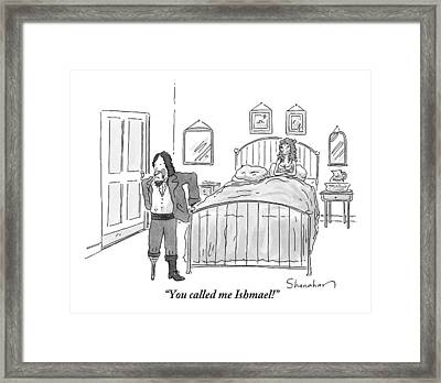 A Man With Only One Foot Stomps Away From A Bed Framed Print by Danny Shanahan