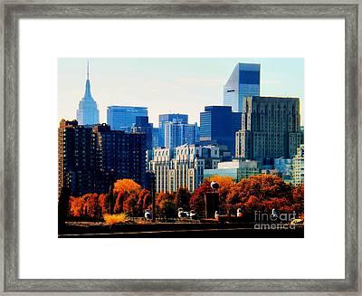 A Manhattan Autumn Framed Print by James Aiken