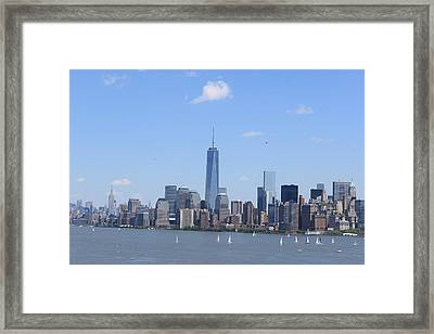 A Manhattan Saturday Framed Print by Suzanne Perry