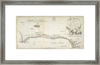A Map Of The Slave Coast Framed Print by British Library