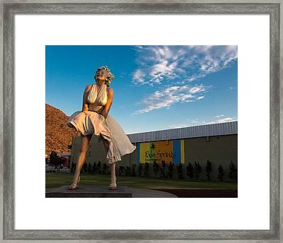 A Marilyn Morning Framed Print by John Daly