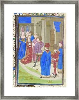 A Marriage Scene Framed Print by British Library