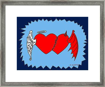 A Match Between Heaven And Hell Framed Print by Brian Dearth