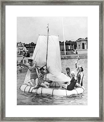 A Merry Crew Of Lady Sailors Framed Print by Underwood Archives