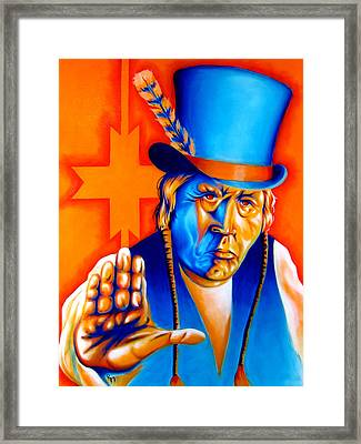 A Message Framed Print by Robert Martinez