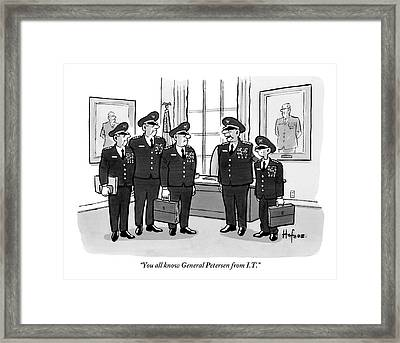 A Military General Introduces A Small Framed Print by Kaamran Hafeez