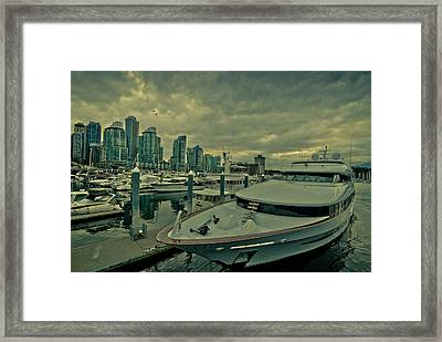 A Million Dollar Ride Yacht  Framed Print by Eti Reid