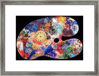 A Minds Eye Palette Framed Print by Trish Bilich