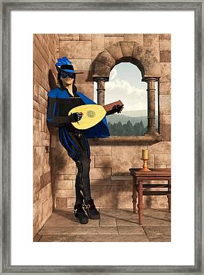 A Minstrel Named Rynstrel. Framed Print by Daniel Eskridge