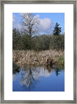 A Moment Of Reflection Framed Print by Bonnie Bruno