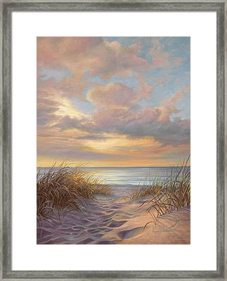 A Moment Of Tranquility Framed Print by Lucie Bilodeau