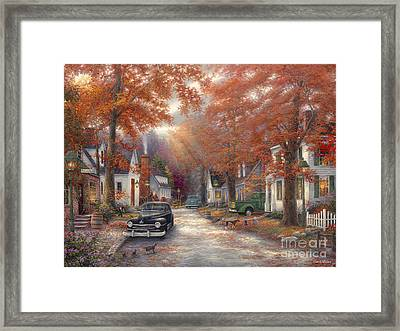 A Moment On Memory Lane Framed Print by Chuck Pinson