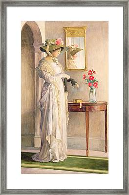 A Moment's Reflection Framed Print by William Henry Margetson