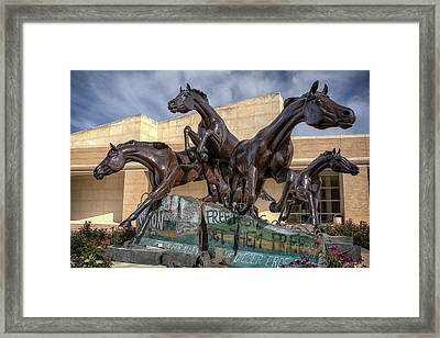 A Monument To Freedom Framed Print by Joan Carroll