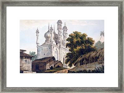 A Mosque At Gazipoor Framed Print by William Hodges
