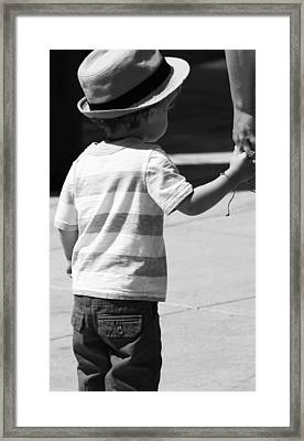 A Mothers Hand  Framed Print by JC Photography and Art