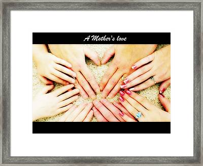 A Mother's Love Framed Print by Michelle Frizzell-Thompson