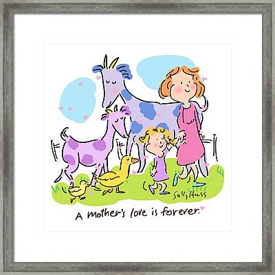 A Mother's Love Framed Print by Sally Huss