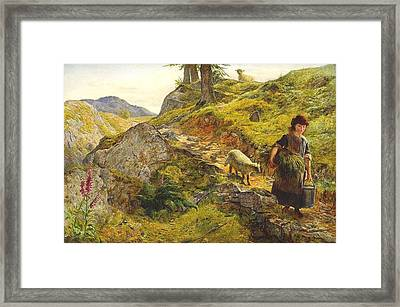 A Mountain Path At Capel Curig Wales Framed Print by MotionAge Designs