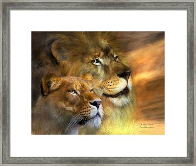 A New Dawn Framed Print by Carol Cavalaris