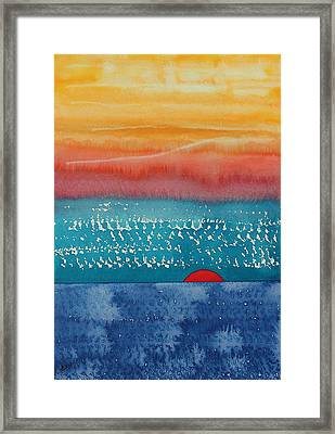 A New Day Dawns Original Painting Framed Print by Sol Luckman
