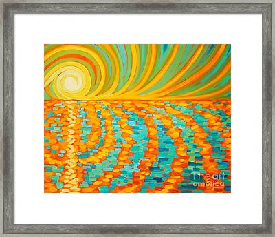 A New Day Is Dawning Framed Print by Janet McDonald