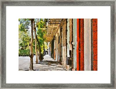 A New Orleans Alley Framed Print by Christine Till